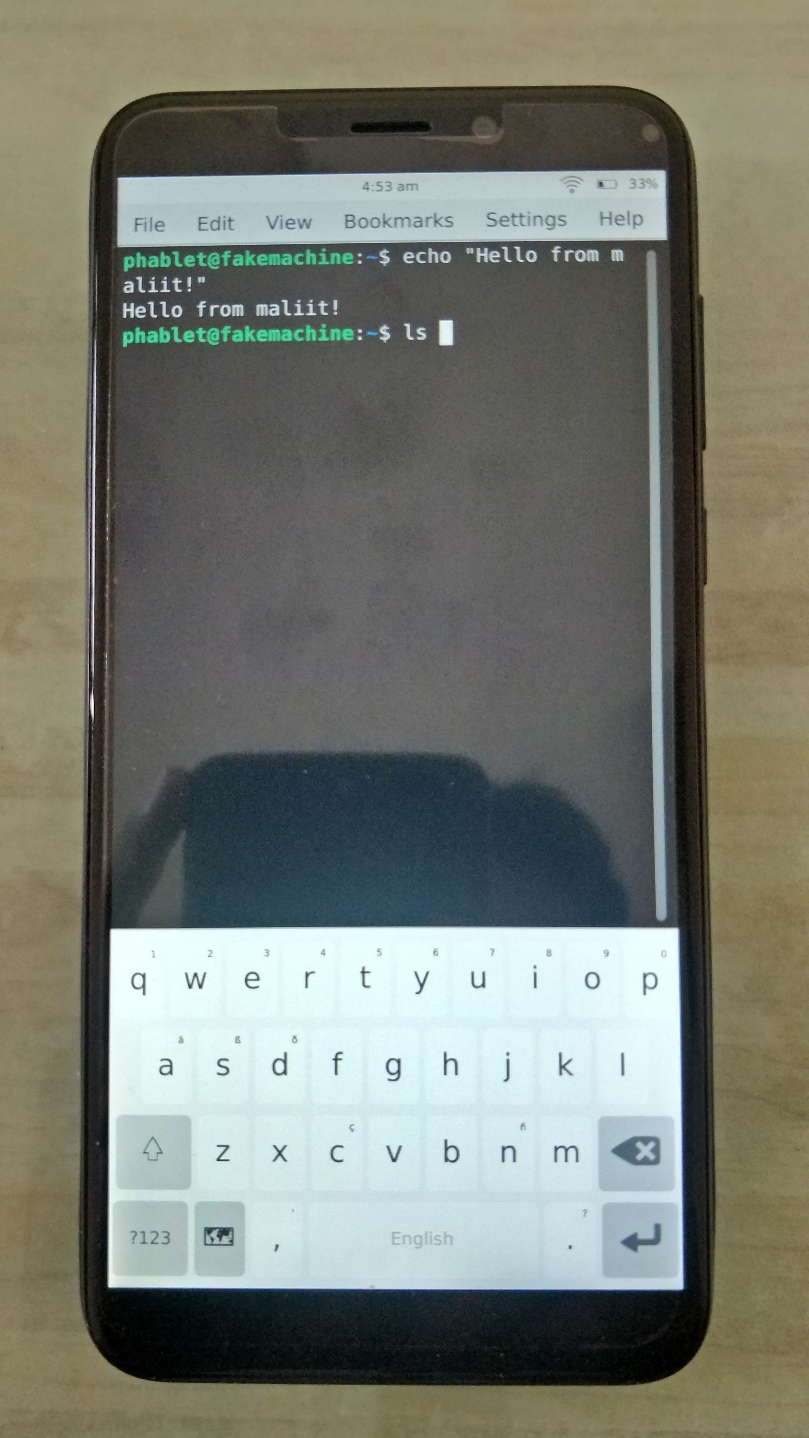 Plasma Mobile Virtual Keyboard, maliit