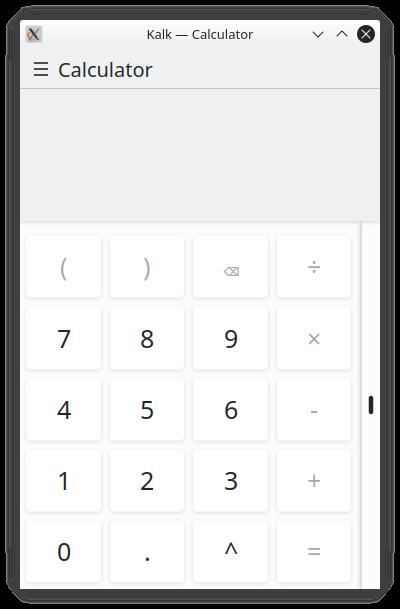 Kalk keyboard layout