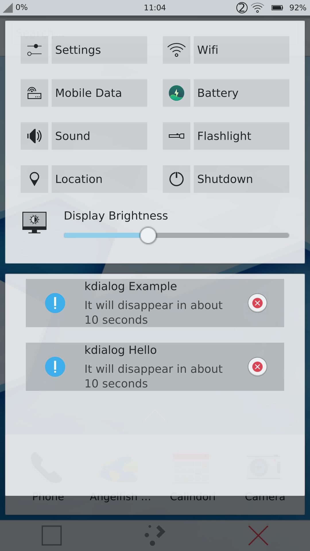 Plasma Mobile notifications